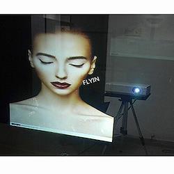 SUNDECK プロジェクター スクリーンフィルム 152cm200cm リアプロジェクター スクリーンフィルム フィルムスクリーン リア投影型 粘着剤付き (クリーム)