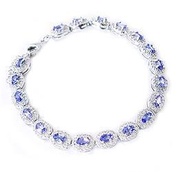 One&Only Jewellery 【鑑別書付】 計7ct 天然 タンザナイト ブレスレット K18GP 12月誕生石 (オーバル)
