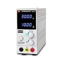 直流 安定化電源 30V 10A 4桁電圧・電流表示 可変 直流電源 スイッチング式 小型 軽量 定電圧・定電流 ワニ口テストリード付属 自動温度制御冷却ファン dc安定化電源 電源装置
