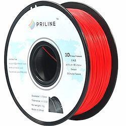 PRILINE 3Dプリンター用 PLAフィラメント【1kg 1.75mm】直径精度+/- 0.03mm、レッド(パントン色:199C)