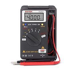 Miniデジタル・マルチメータ C-Timvasion LCDディスプレイ 電流 電圧 抵抗 周波数 導通測定テスター 自動車、家庭、産業用 テスター 日語説明書