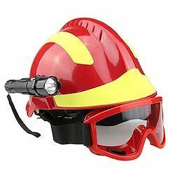 屋外救助用ヘルメット、ゴーグルとグレア懐中電灯を備えた地震救助用ヘルメット緊急保護キットFyxd