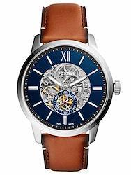 FOSSIL[フォッシル] me3154 TOWNSMAN 48MM AUTOMATIC BROWN LEATHER WATCH 自動巻 ブルー メンズ ブラウンレザー腕時計 [並行輸入品]