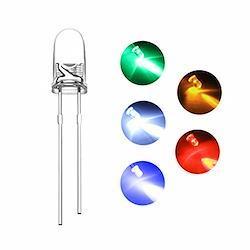 【1000個】DiCUNO 発光ダイオード 3MM LEDダイオード 透明 高輝度 円型頭部 白赤緑青黄各200個