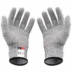 niceluke 軍手 防刃 手袋 作業用 切れない 耐切創 ワークマン DIY 手袋 防災用品 安全防護 グレー M