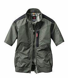 BURTLE バートル エアークラフト半袖ブルゾン(ユニセックス) 春夏用 AC1056 19 ザック 3L
