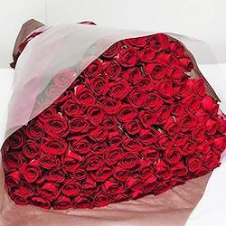 本数をお選びください 赤いバラの花束 10本~100本 最高級のトップローズを使用 薔薇 エーデルワイス 花工房 (100)