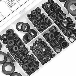 BESTU ケーブルグロメット グロメット ゴムブッシング 配線保護 両面保護 ケーブル保護 グロメットセット ゴムブッシュ 配線グロメット ワイヤーリング 8種類サイズ 180個セット 収納ケース付き