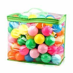 iKing カラーボール ボールプール用ボール 海洋ボールのおもちゃ 直径5.5cm ポリエチレン製 PE より厚み 弾力あり 柔らかい 7色 収納ケース付き 100個 5.5cm 100個