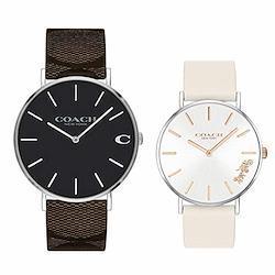 [コーチ]COACH 収納BOXペアウォッチ チャールズ ペリー レザー 革 シンプル シックなダークカラー&可愛いライトカラー 1460215614503117 腕時計 [並行輸入品]