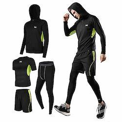コンプレッションウェア セット スポーツウェア メンズ 上下 4点セット トレーニング ランニング ジム フィットネス 吸汗 速乾