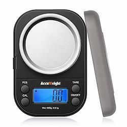 Accuweightデジタル 計量器 精密はかり携帯 電子はかり デジタルスケール 0.1g単位 1000g 業務用 計測AW255 1000g