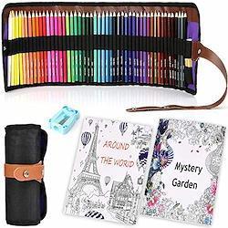 ヤマト商事 大人の塗り絵 色鉛筆50色 趣味 自分用 子供のプレゼントに おすすめ 収納ケース 鉛筆削り付き