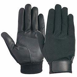 ユアサグローブ 忍 黒牛甲メリ牛本革手袋 Lサイズ C660BK/BK-L 点検整備・一般作業・スポーツ・レジャー