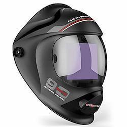 TEKWARE 特大自動遮光液晶溶接面 自動感光式溶接マスク ソーラー充電式溶接マスク/溶接ヘルメット 調整可能なシャドー範囲4/5-9/9-13 遮光速度1/10000秒 自動暗くするフード付き