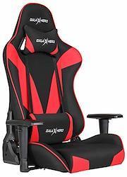GALAXHERO ゲーミング座椅子 ゲーミングチェア 座椅子【安心の一年間保証】360度回転 【ファブリック製】通気性 リクライニング 可動肘 【耐荷重150kg】 ヘッドレスト 調節可能ランバーサポート ひじ掛け ハイバック レッド ADJY603RE 幅66.5×奥行62×高さ102cm レッ
