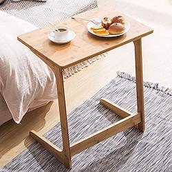 ソファ サイドテーブル コの字型 幅60×奥行40×高さ65cm パソコンテーブル ナイトテーブル コンパク ブラウン LST003QQ