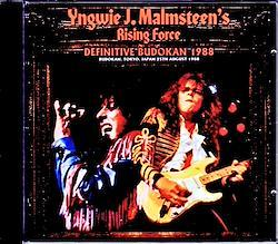 Yngwie Malmsteen Rising Force/Tokyo,Japan 1988 2CD-R