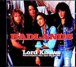 Badlands Jake E. Lee/Tokyo,Japan 6.18.1989 2CD-R
