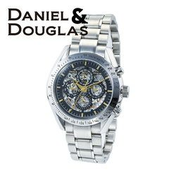 ダニエルダグラス DANIEL&DOUGLAS ダニエル ダグラス DD8807-BKGD メンズ 時計 腕時計 自動巻き オートマチック スケルトン