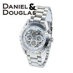 ダニエルダグラス DANIEL&DOUGLAS ダニエル ダグラス DD8807-WHSV メンズ 時計 腕時計 自動巻き オートマチック スケルトン