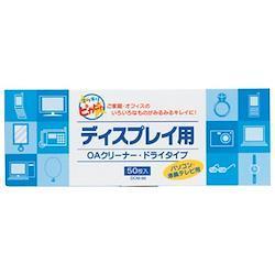 4610010 アジア原紙 ディスプレイ用OAクリーナー ドライタイプ50枚入 DCM-50