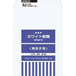 1140710 オキナ ホワイト封筒 100枚パック 角形2号 WP2270