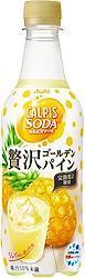 アサヒ飲料 「カルピスソーダ」 贅沢ゴールデンパイン 450ml ×24本