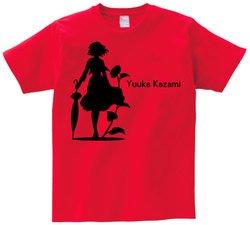 東方 シルエット 風見幽香 Bタイプ 半袖Tシャツ / Toho silhouette Yuuka Kazami Short-sleeved t-shirt red XL size