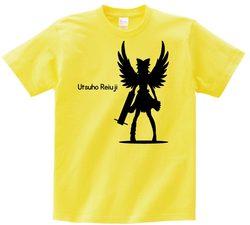 東方 シルエット 霊烏路空 Bタイプ 半袖Tシャツ / Toho silhouette Utsuho Reiuji Short-sleeved t-shirt yellow XL size