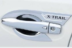 日産 エクストレイル T32 用 ドアハンドル カバー 黒文字