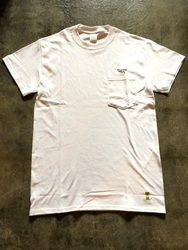 SURF A PIG メンズ ポケット付き刺繍Tシャツ ST-12 [ST-12] ホワイト