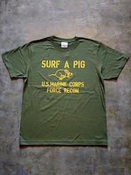 SURF A PIG メンズ プリントTシャツ ST-22 [ST-22]