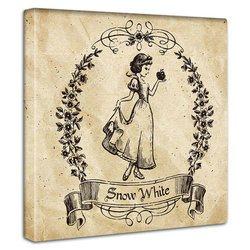 白雪姫  ファブリックパネル インテリア アートパネル 壁掛け 絵 壁に飾る絵画 Disney