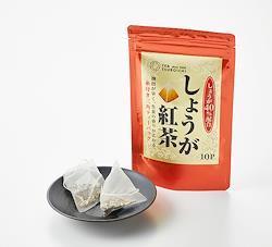 【つぼ市製茶本舗】しょうが紅茶ティーバッグ 2g×10p