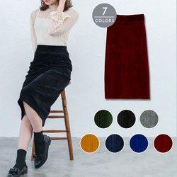 選べる7カラーコーデュロイスカート
