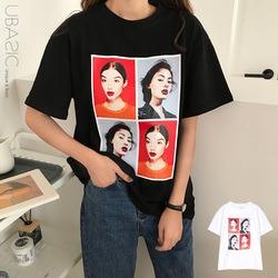 フェイスプリント半袖Tシャツ