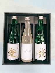 【オール大阪プロジェクトの日本酒】[純米のコクと旨味を2タイプで]純米大吟醸 微発泡黄金にごり酒「HATSU」(720ml×1本)、純米吟醸酒「發」(720ml×2本)(3本セット)2個口