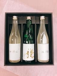 【オール大阪プロジェクトの日本酒】[純米のコクと旨味を2タイプで]純米大吟醸 微発泡黄金にごり酒「HATSU」(720ml×2本)、純米吟醸酒「發」(720ml×1本)(3本セット)1個口