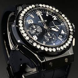 新品同様.HUBLOT.ウブロ.ビッグバン.セラミック.ブルーダイヤモンド.341.CM.7170.LR.1204.腕時計