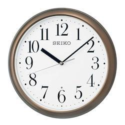 セイコー SEIKO 掛け時計 電波時計 シンプル ブラウンメタリック 茶色 スタンダード KX218B インテリア時計 お取り寄せ