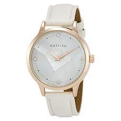 Field work フィールドワーク クラッシュ WH ホワイト QKS178-1 ガラス モザイク 白 腕時計 レディース