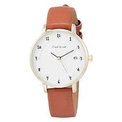 Field work フィールドワーク セラヴィ キャメル ST232-2 手書き レザーバンド 茶色 ブラウン ゴールド 腕時計 レディース