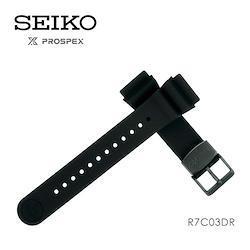 セイコー SEIKO プロスペックス PROSPEX 替えバンド 交換用ベルト シリコン 22mm 黒 R7C03DR