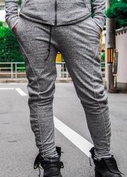 Acrylic Coated Track Pants - Gray