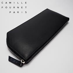 Camille Fournet 21.07 VERSO ヴェルソ ロングジップウォレット アリゲーターコンビ ブラック×ブラウン